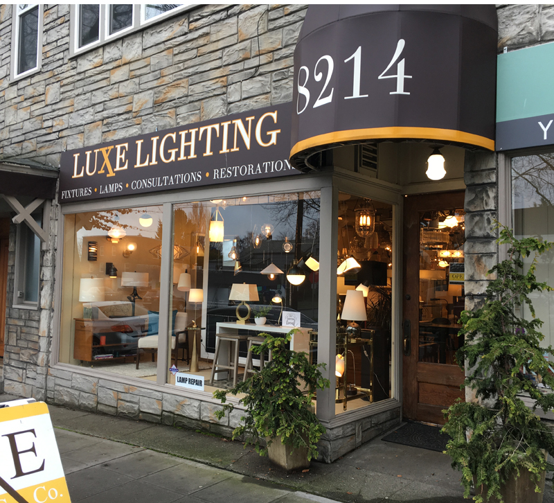 Showroom Spotlight Luxe Lighting Company Furniture