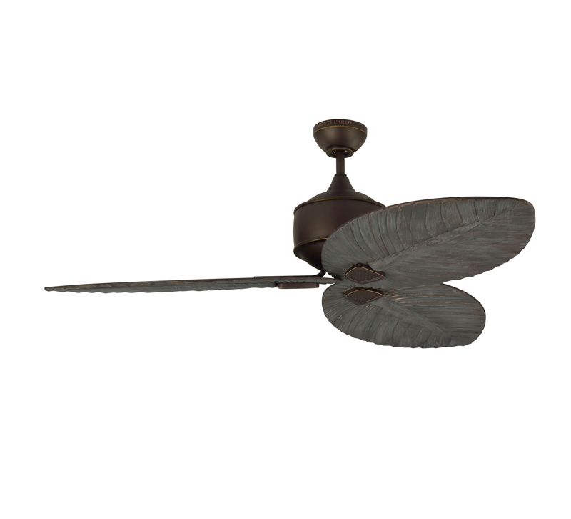 Delray ceiling fan in Roman Bronze with Dark Walnut blades from Monte Carlo