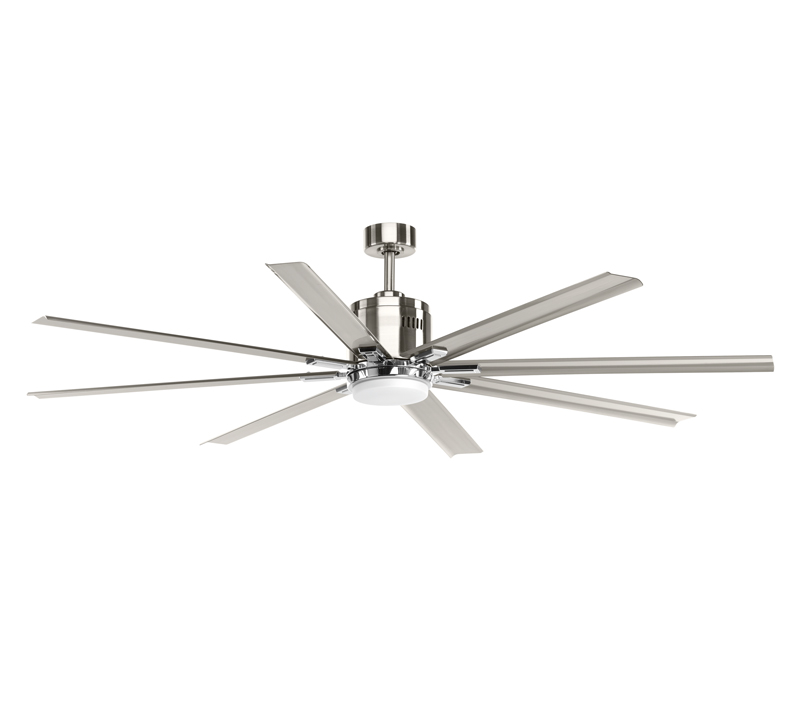 Vast Ceiling Fan with eight blades in a Brushed Nickel finish from Progress Lighting