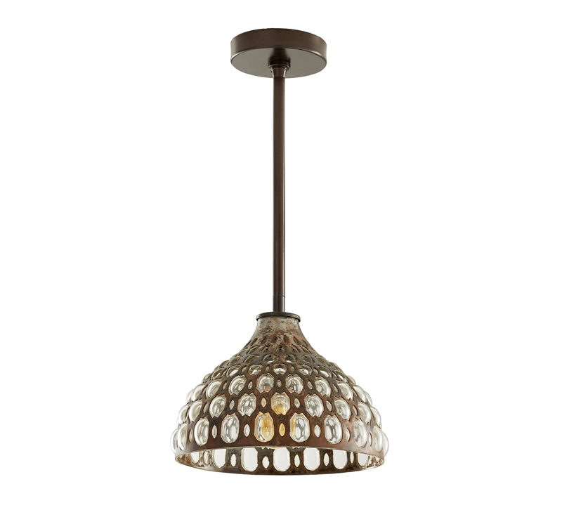 Lenny pendant with a Natural Iron finish from Arteriors, which displays its UL listing