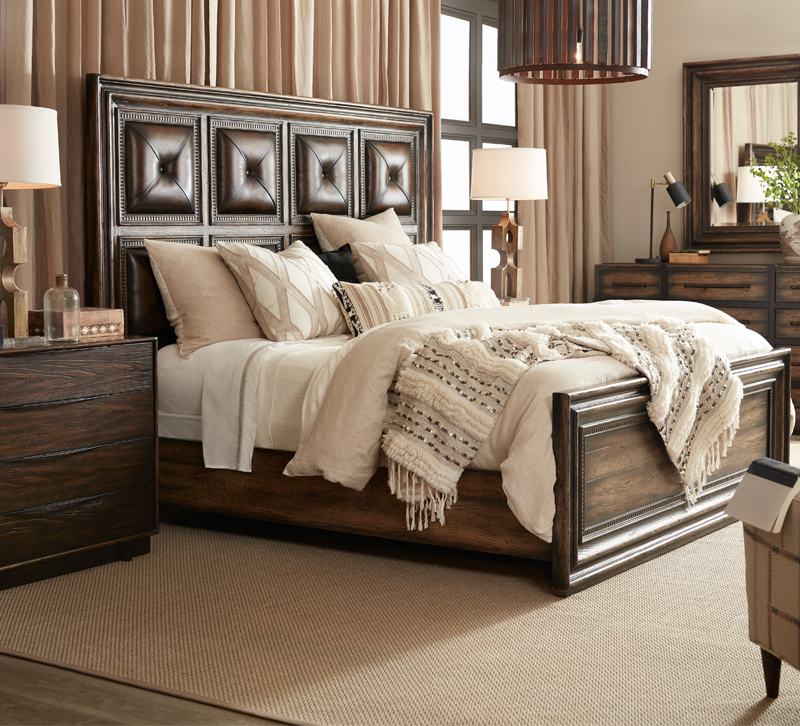 Bedroom with furniture from Hooker Furniture