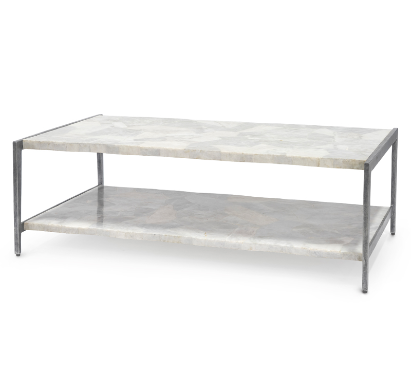 Marble coffee table from Palecek