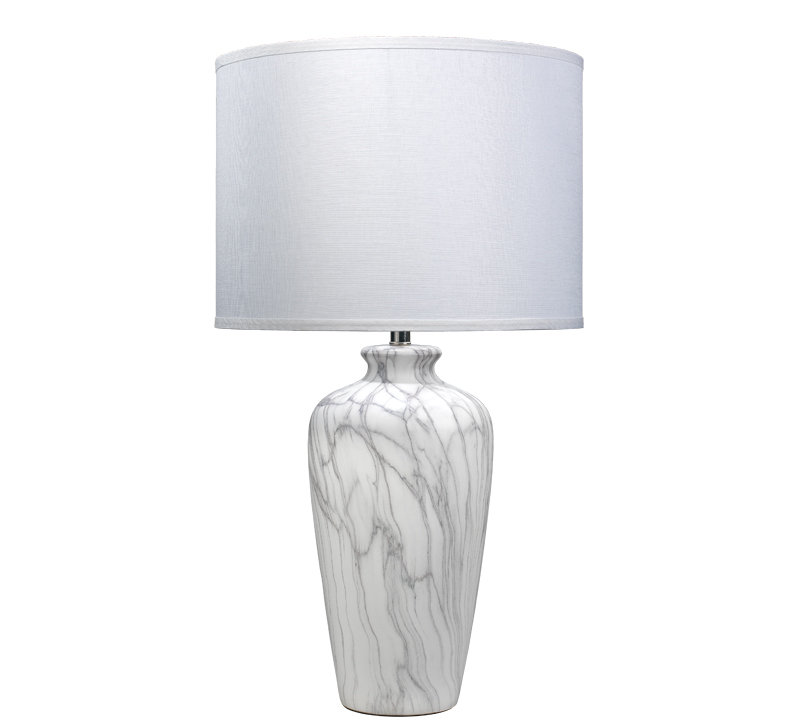 Bedrock faux white marble Table Lamp from Jamie Young