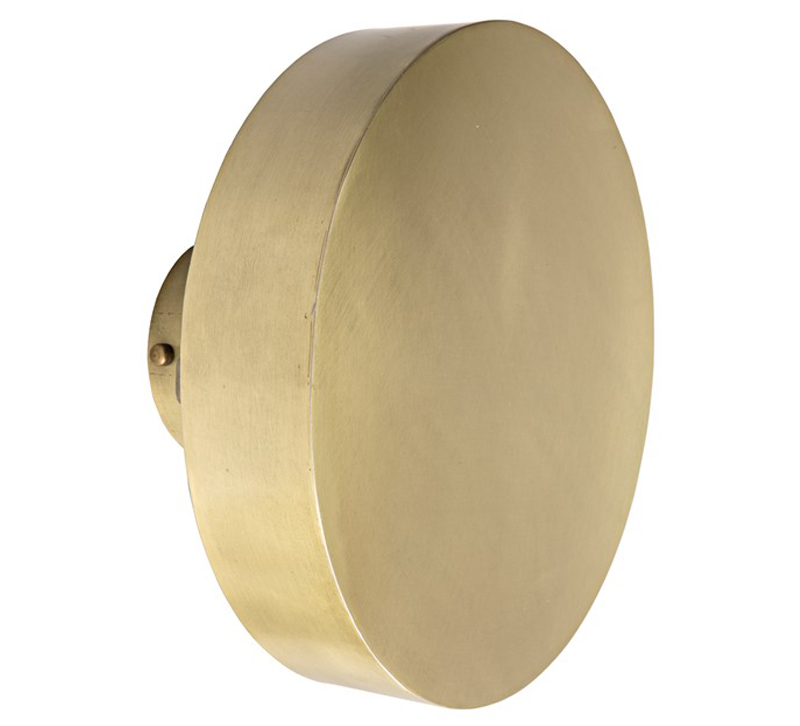 Lubmila circular Sconce finished in Antique Brass from Noir Furniture