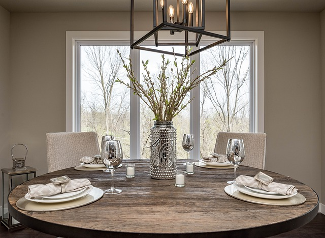 how high to hang chandelier over dining table