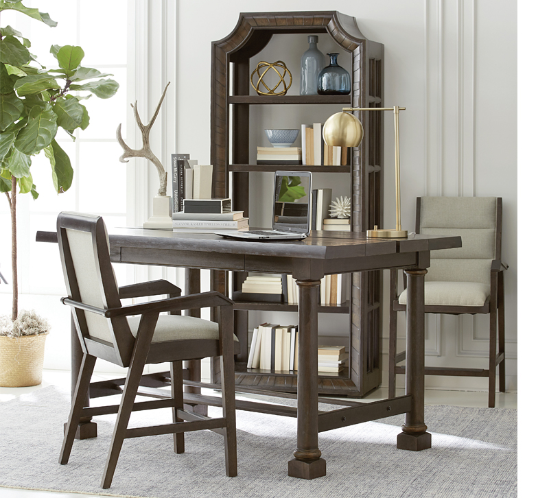American Chapter Live Edge activity table in brown with one chair from A.R.T. Furniture