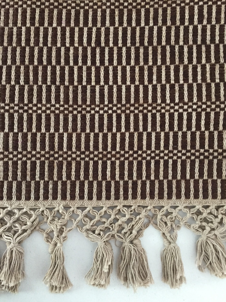 Maddalena Forcella rug with tassels by ALT for Living