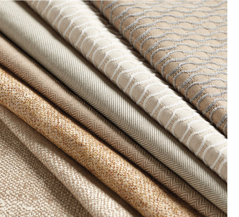 Ballad Design performance fabrics in neutral colors