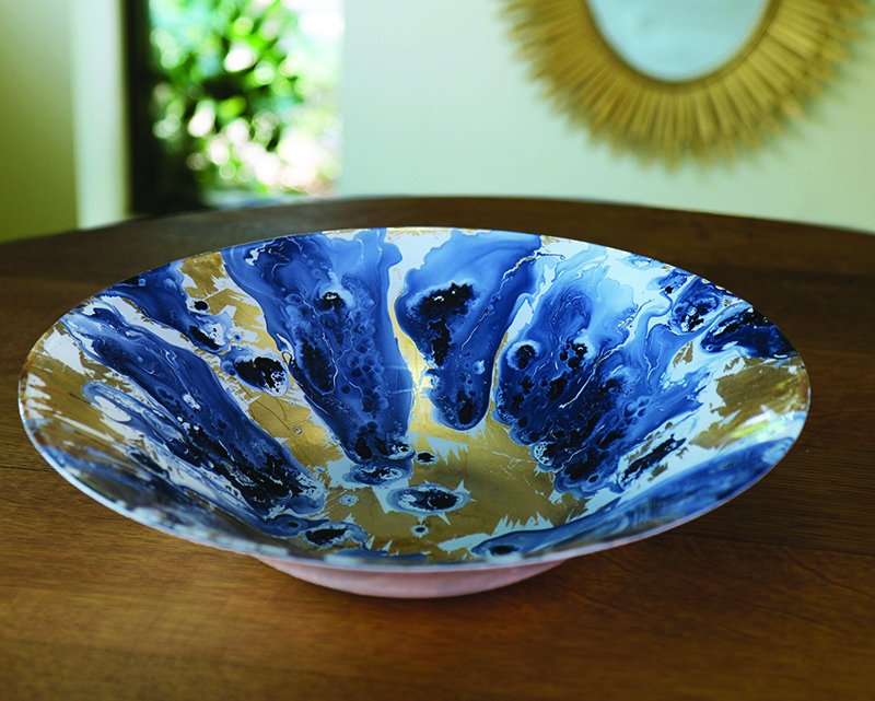 Beatriz Ball New Orleans Glass Serving Bowl