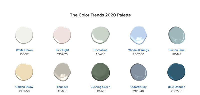2020 Paint Color Trends.Benjamin Moore Announces 2020 Color Of The Year First