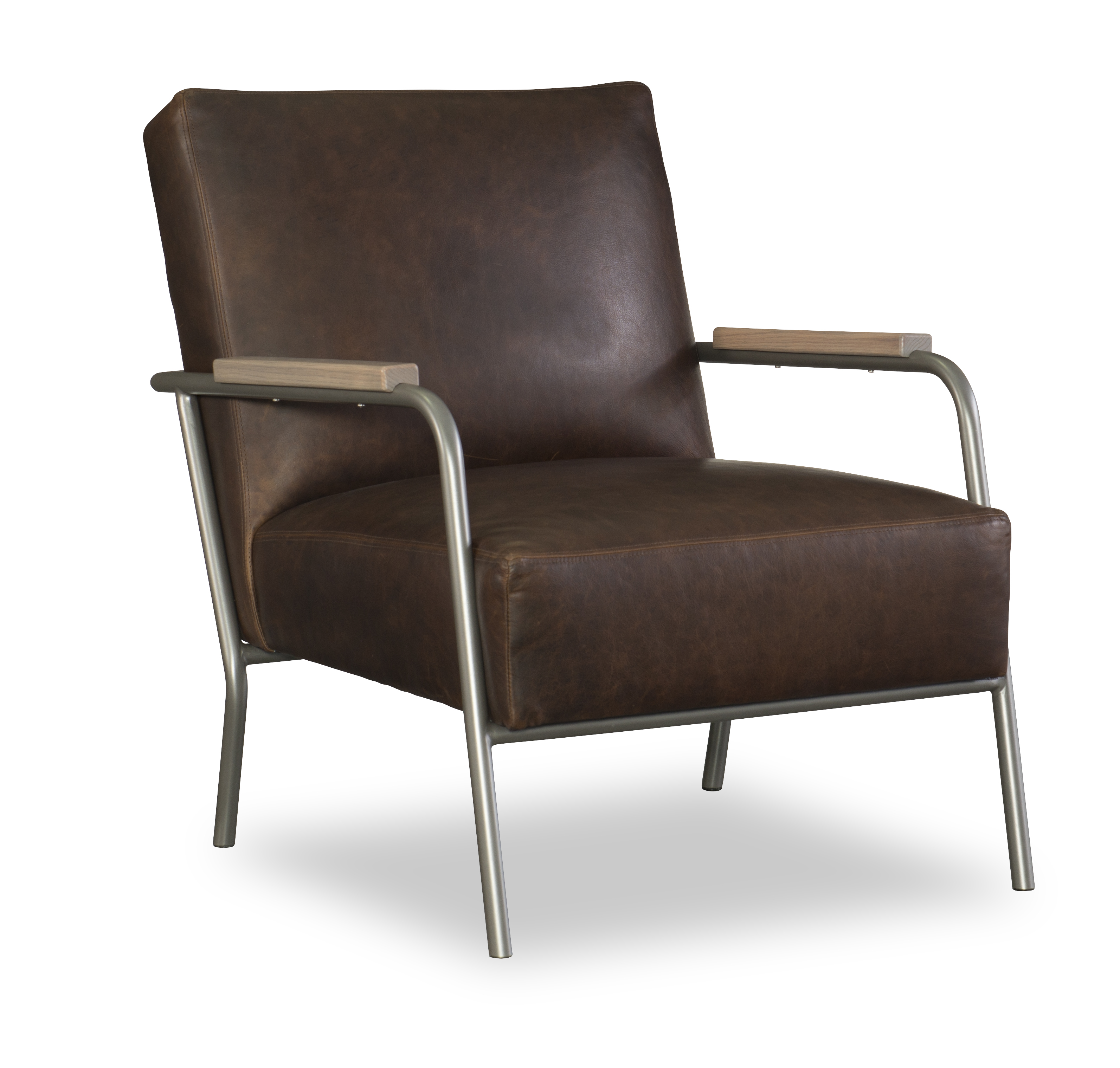 Levi chair upholstered in Arizona Rustic leather from CR Laine