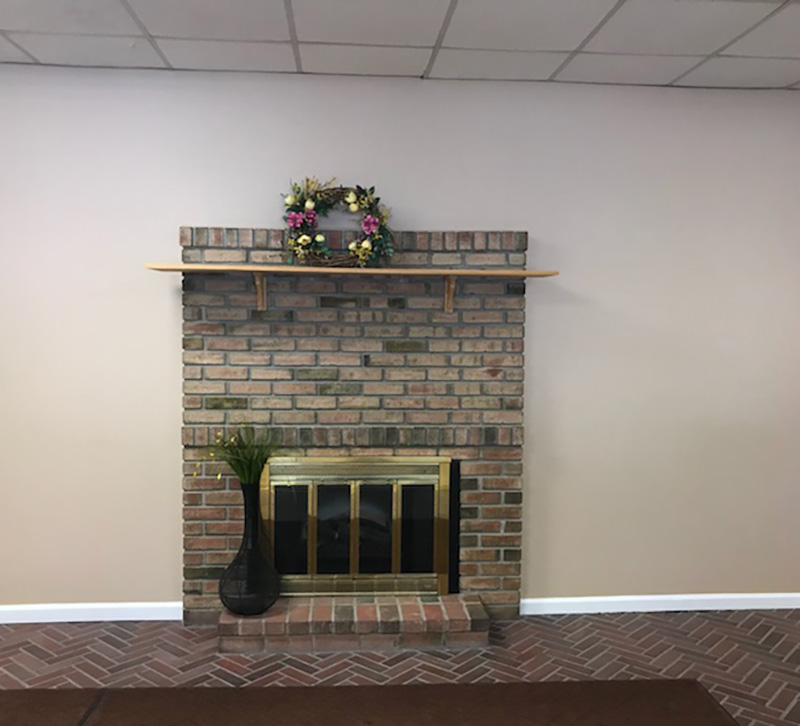Carrie Fusella Fireplace Before