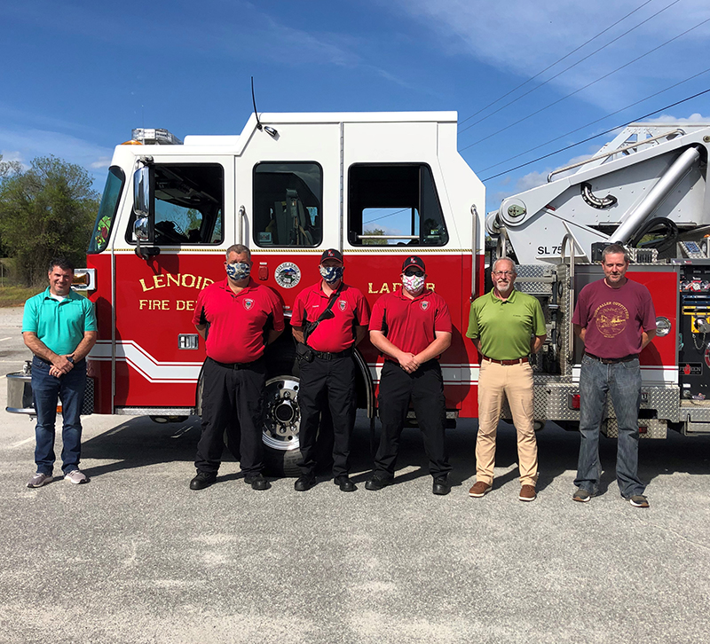 Fairfield Chair PPE Masks Donated to local fire department