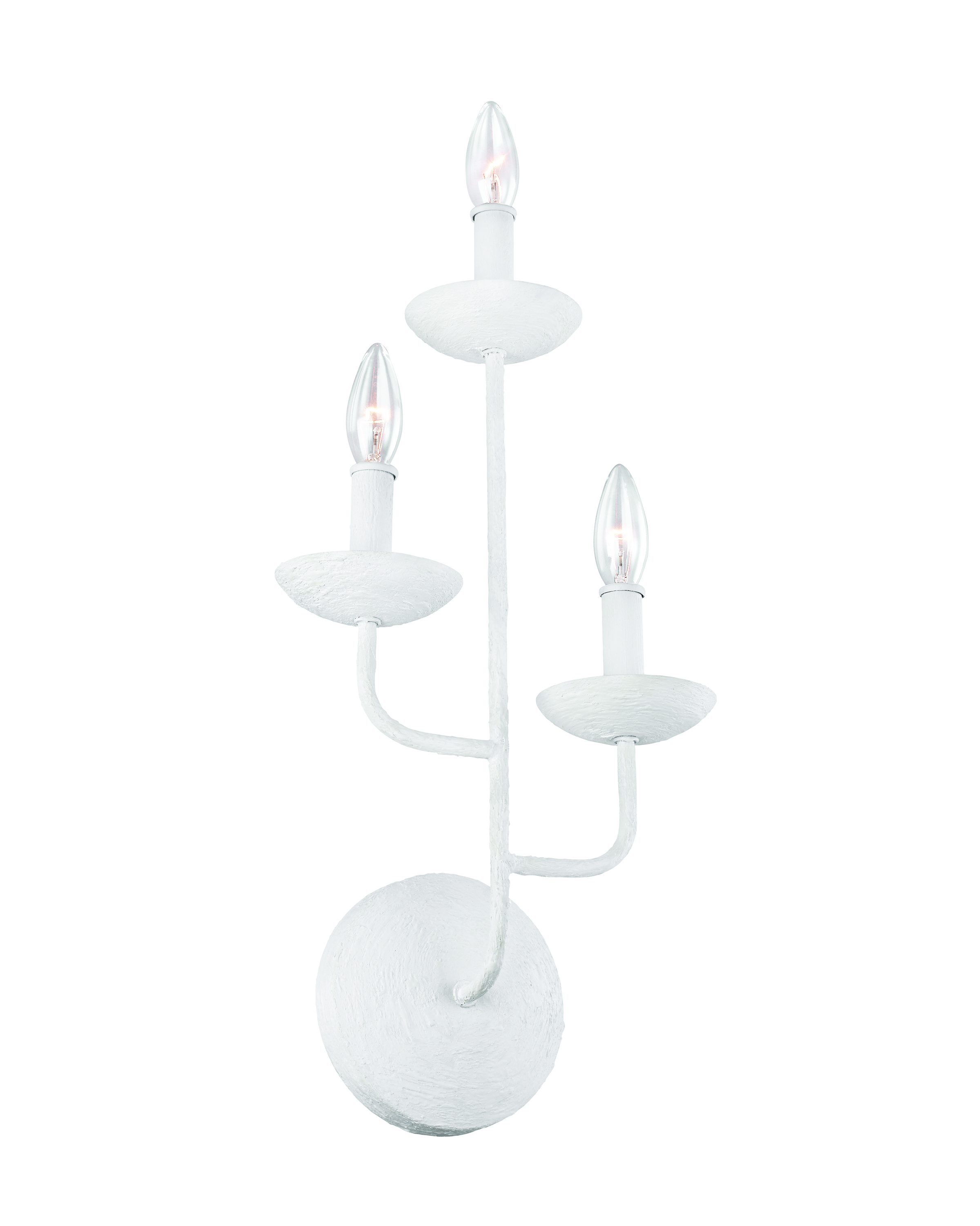 Annie two-light sconce in white from Feiss