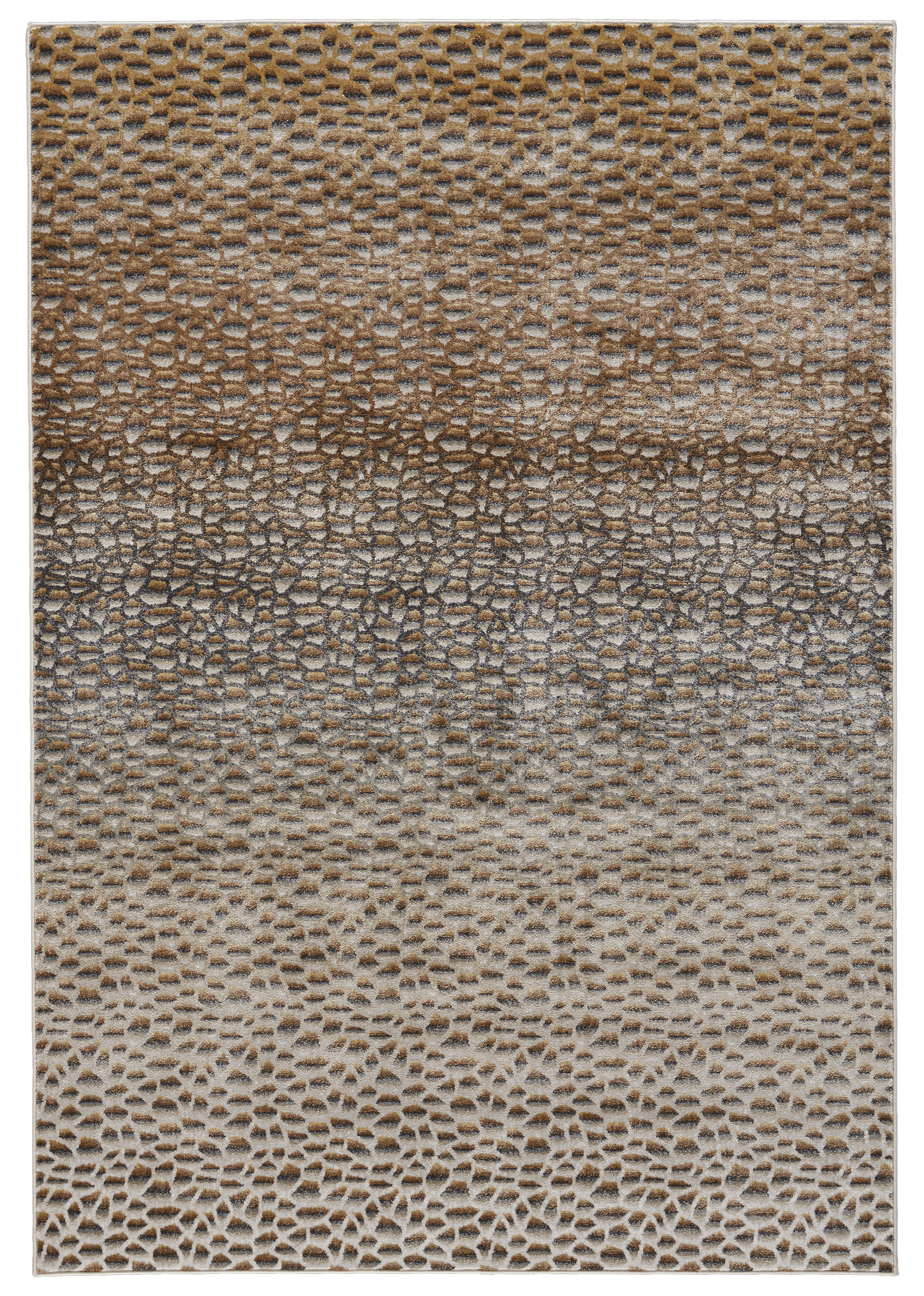 Cannes area rug in metallic Dark Gold from Feizy