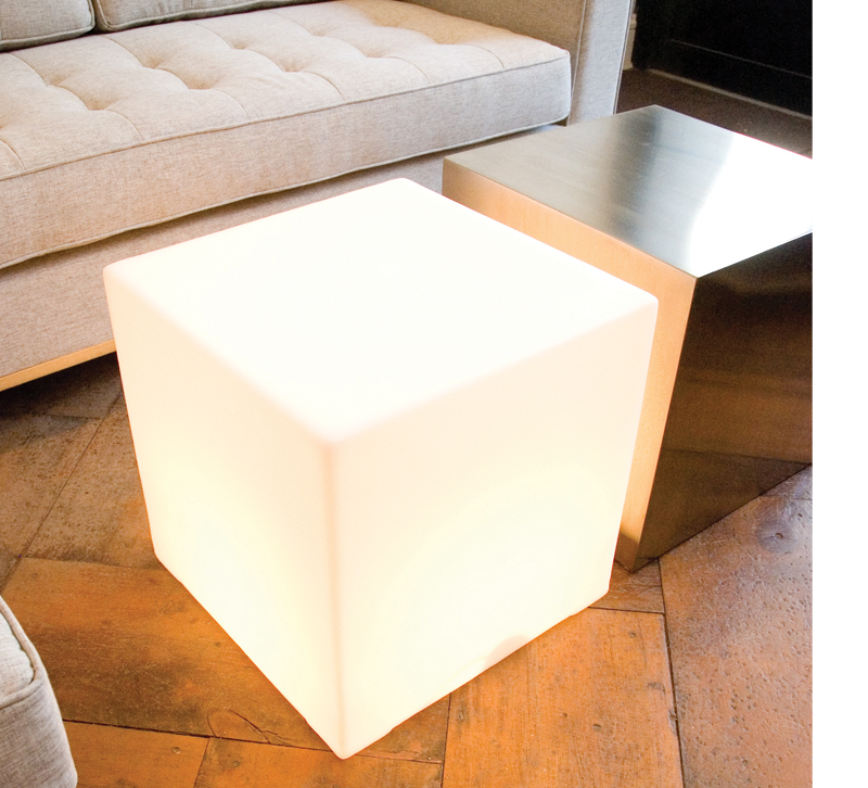 Lightbox cube in living room from Gus Modern