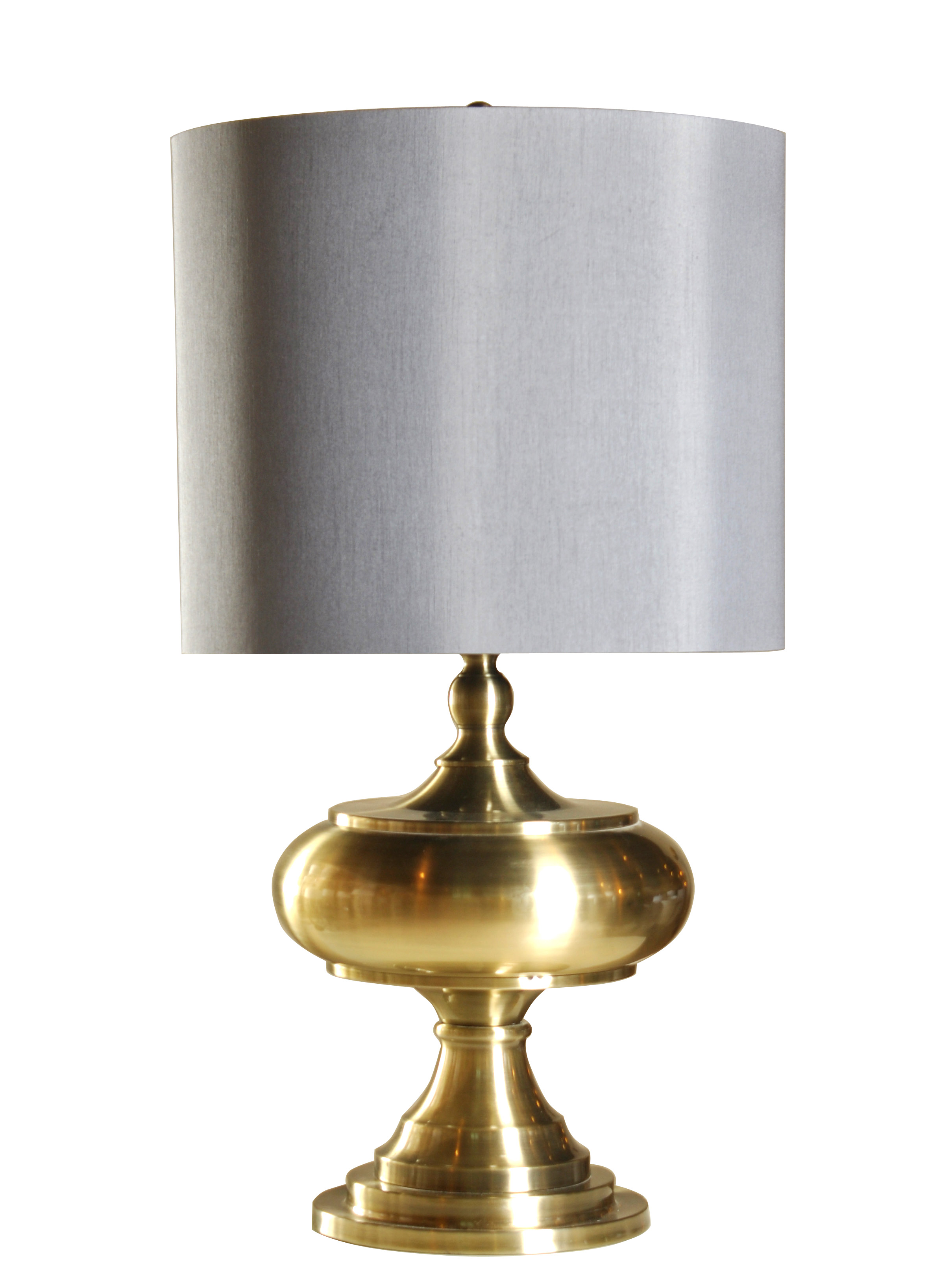 lamp with brass finish