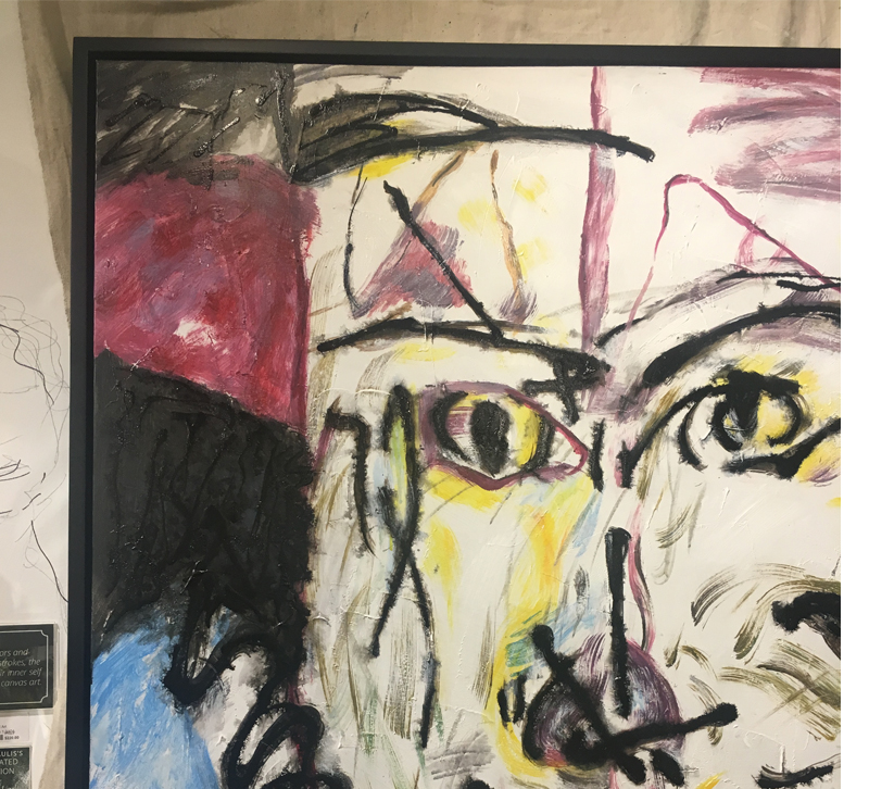 abstract face on canvas from Howard Elliott