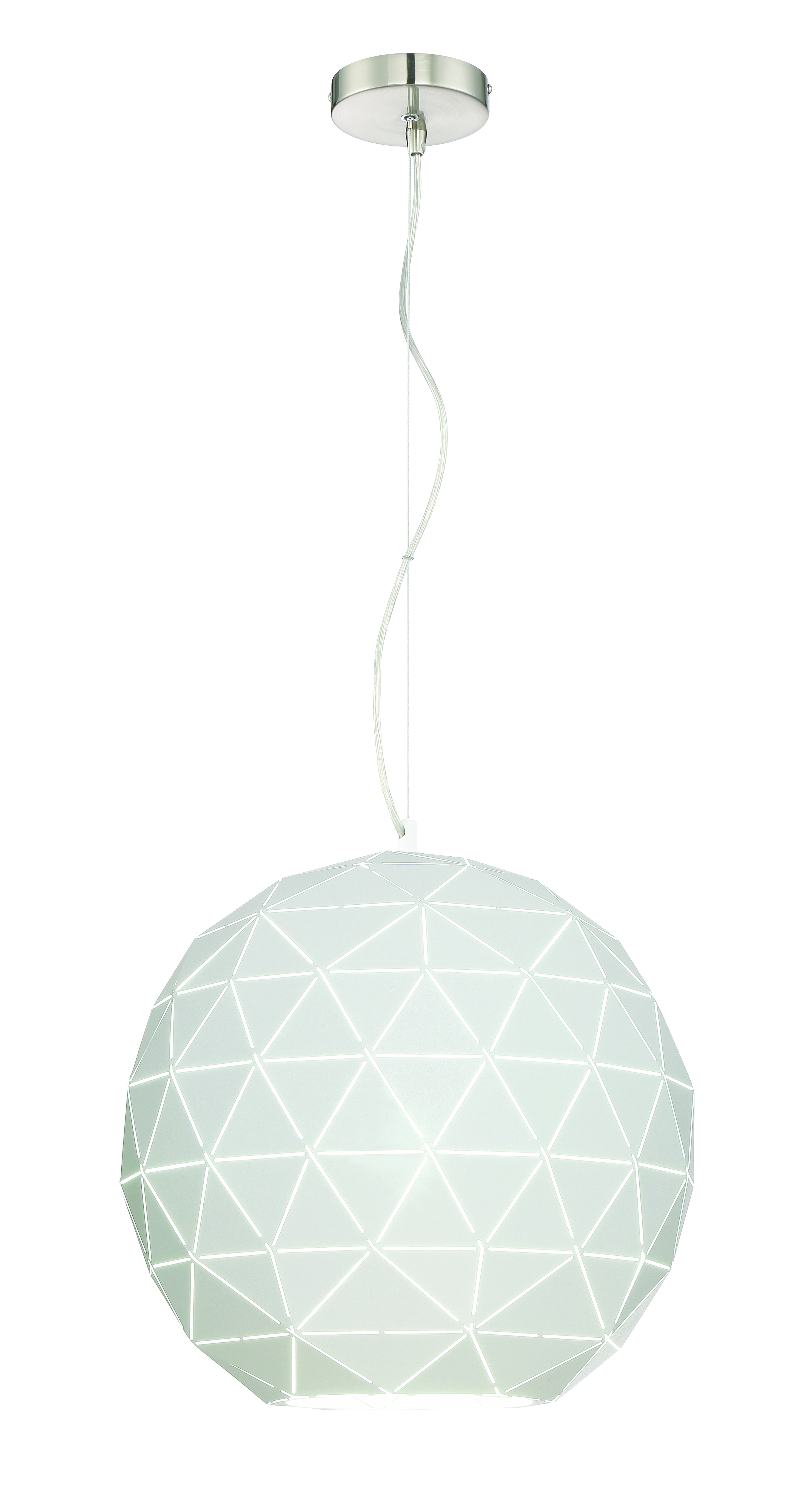 Pandora pendant with a white laser-cut shade from Lite Source