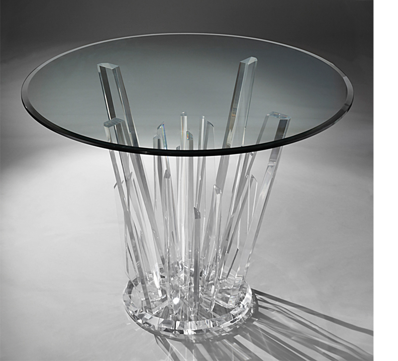 Glass and acrylic dining table from Muniz