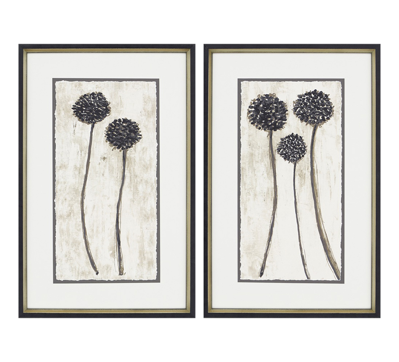 Night PK featuring a pair of giclées on a white background with a black and gold frame from Paragon