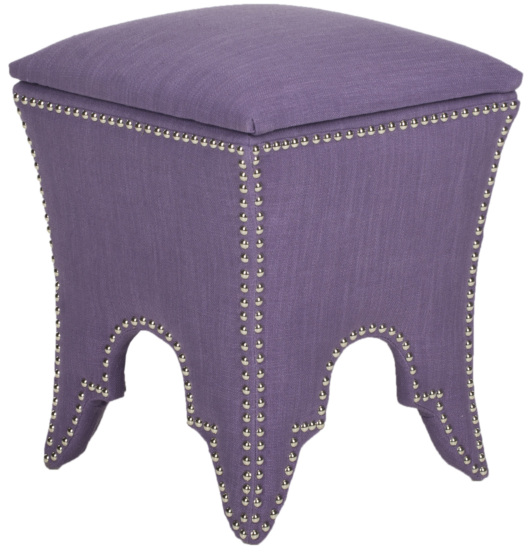 Deidra ottoman in lavender with arched sides from Safavieh