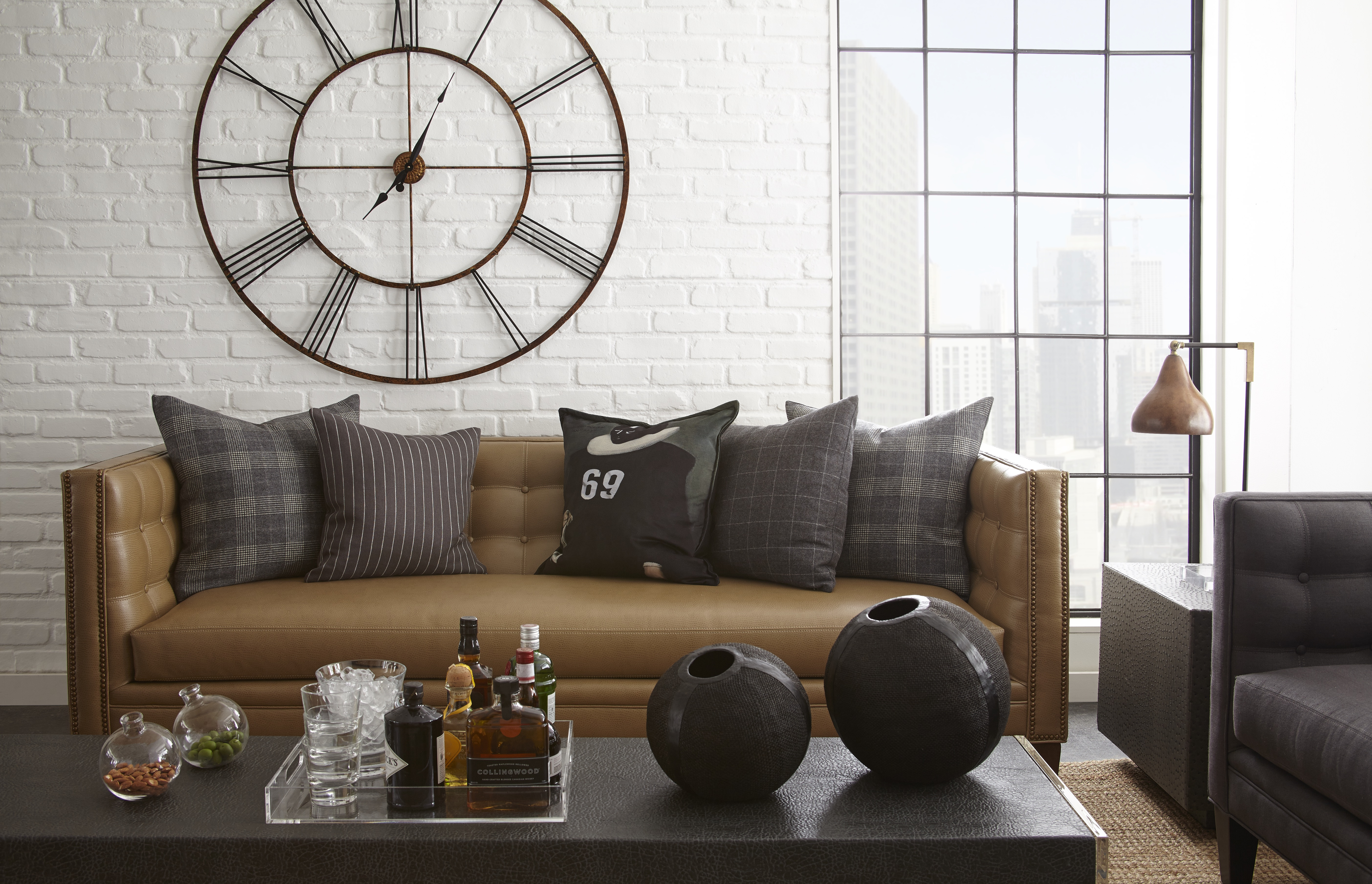 Madison sofa in brown, part of Square Feather's Brooklyn Collection