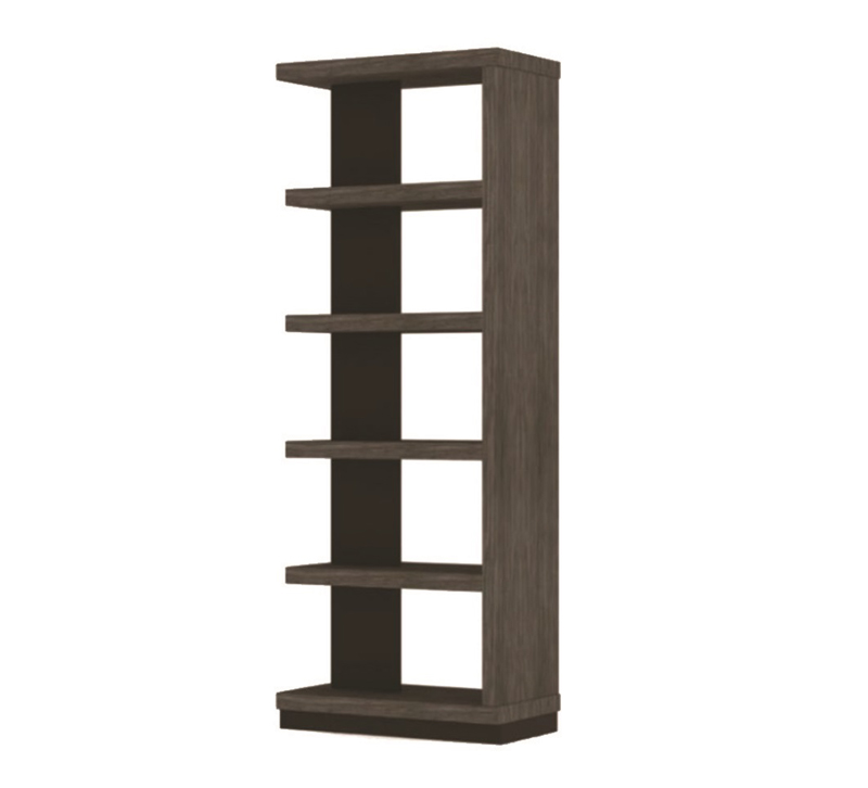 Wright Collection wooden four-shelf bookshelf from Twin Star Home