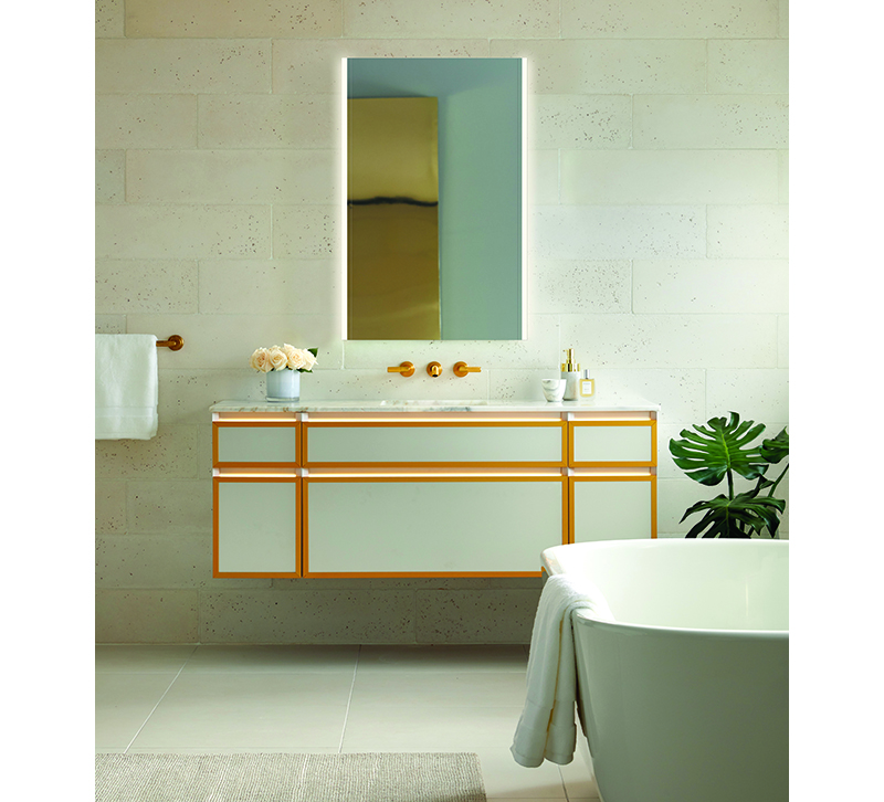 Lighting functionality, lighted bathroom mirrors, bathroom lighting