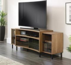 Curved Entertainment Credenza, Sauder