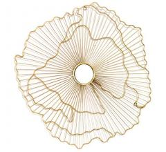 Vertuu gold abstract wire mirror