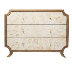 Bone Burst three-drawer chest with an oak finish from Emporium Home