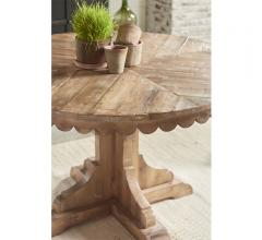 Top Tier pedestal table with ribbed edges in a light finish from Magnolia Home