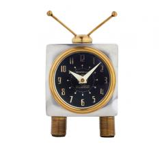 Tee Vee Clock featuring a TV design with antennas and legs from Pendulux