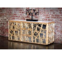 Monterey credenza with square frames in gold from Badgley Mischka