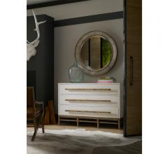 Hooker three-drawer white chest