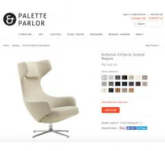Screenshot from Palette & Parlor's website