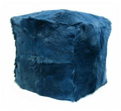 Moe's-Home-Collection-Goat-fur-Pouf-in-Navy-accent-furniture
