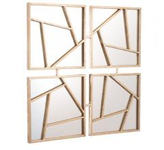 Four Faces four-paneled mirrors with geometric shapes from Zuo Mod