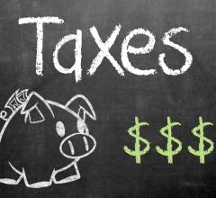 Taxes on Chalkboard via GotCredit.com