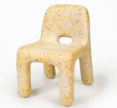 ecoBirdy recycled kid's chair yellow