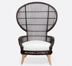 Made Goods brown rattan Aurora outdoor dining chair