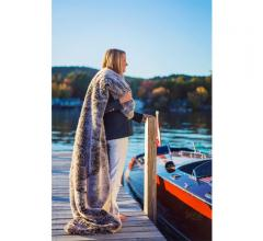 Pretty Rugged faux fur weather resistant boat blanket