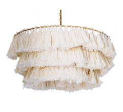 Justina Fela tassel chandelier with tassels in Frothy White from Selamat for dining room idea