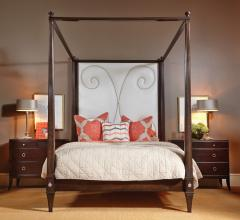 Harden Furniture upholstered canopy bed
