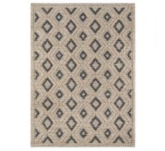 Andres Area Rug with a beige diamond pattern from Momeni