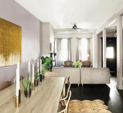 living room and dining room in house designed by AphroChic