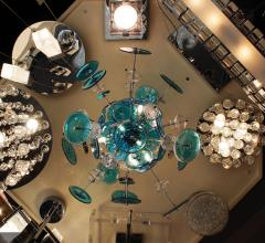Lighting fixtures in the Elektra Lights and Fans showroom