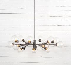 Pellman multi-light chandelier in silver from Four Hands