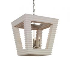 Belmont Tapered Chandelier with a beige, ribbed frame and four lights from Mr. Brown London